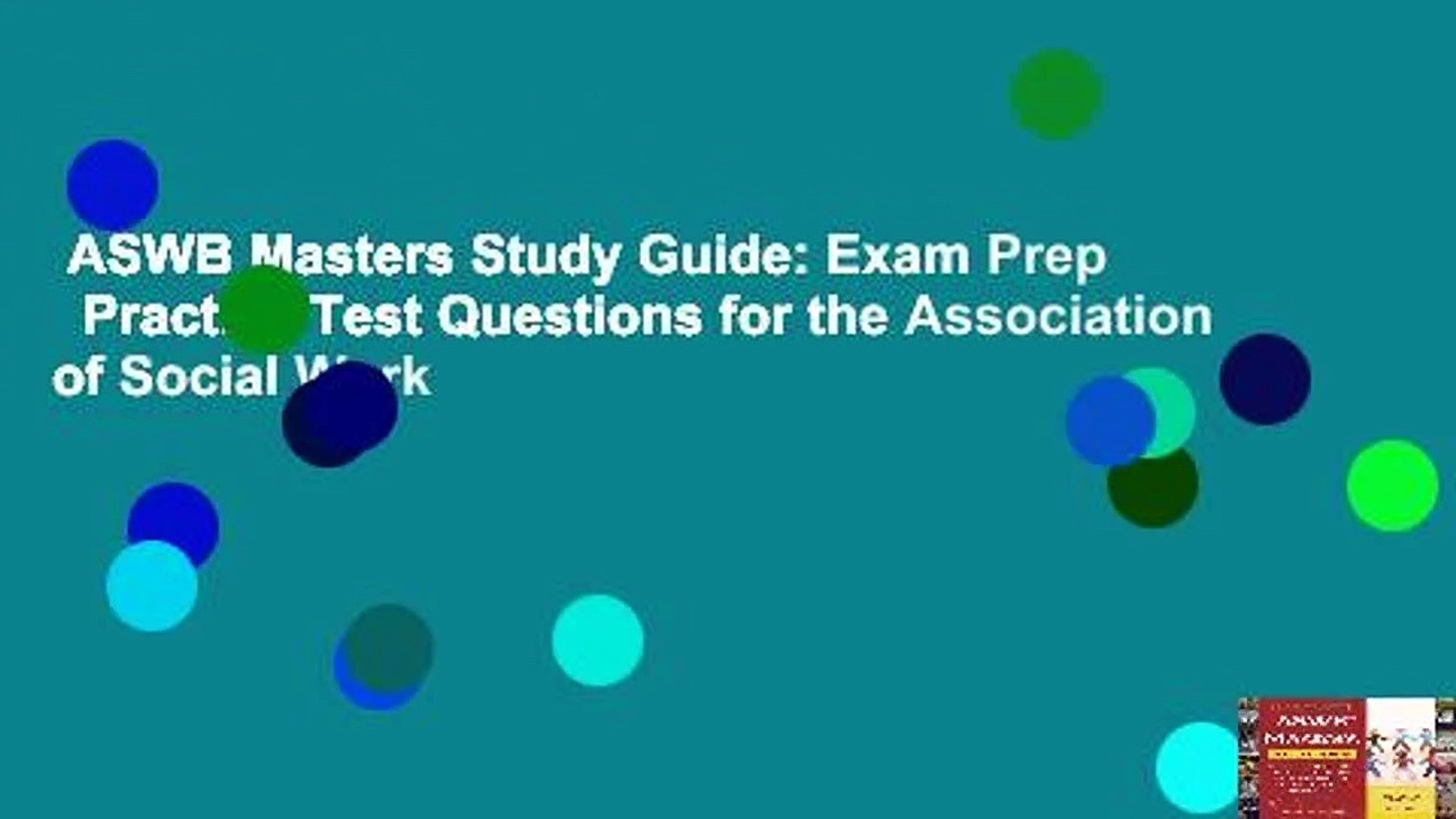 ASWB Masters Study Guide: Exam Prep   Practice Test Questions for the Association of Social Work