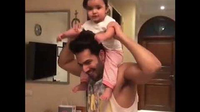 Varun Dhawan enjoys with his niece