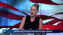 Bernie Sends Protesting Miners Pizza