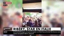 Franck Ribéry a surpris le monde du football en s'engageant hier avec la Fiorentina et il a reçu un accueil de star sur place