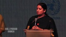 Smriti Irani stuns in Black saree at Lakme Fashion Week 2019; Watch video