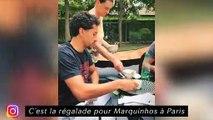 Adil Rami continue de bosser malgrès tout - L'entraînement des Brésiliens à Lyon
