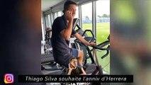 Thiago Silva souhaite l'anniv d'Herrera - Soir de Coupe d'Europe à Strasbourg