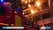 Créteil : incendie mortel près de l'hôpital Henri-Mondor