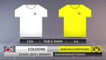 Match Preview: Cologne vs Borussia Dortmund on 23/08/2019
