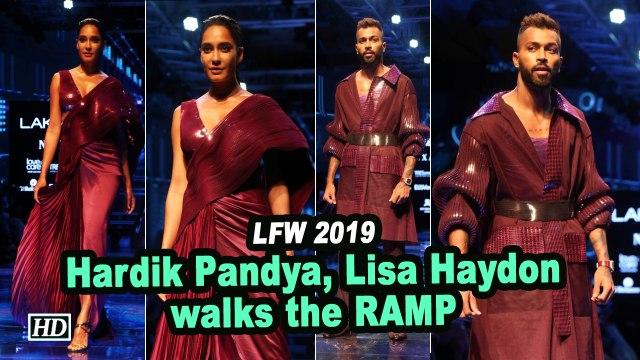LFW 2019: Hardik Pandya, Lisa Haydon walks the RAMP