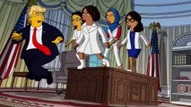 """Le dessin animé """"Les Simpson"""" se moque de Donald Trump en parodiant une chanson de """"West Side Story"""" pour annoncer sa 31e saison - VIDEO"""