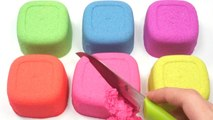 DIY How To Make Colors Cube Kinetic Sand Modeling Learn Colors Baby Doll Bath Time