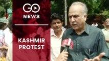 DMK-led Protest Against Detention Of J&K Politicians
