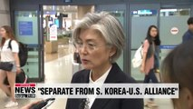 GSOMIA termination, separate from S. Korea-U.S. alliance: FM