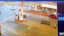 Em alta velocidade! Vídeo mostra motorista entrando em posto para fugir da PRF na BR-277