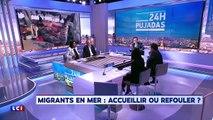 Clash entre Gilbert Collard et Romain Goupil sur les migrants