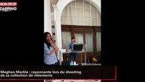 Meghan Markle : rayonnante lors du shooting de sa collection de vêtements (vidéo)