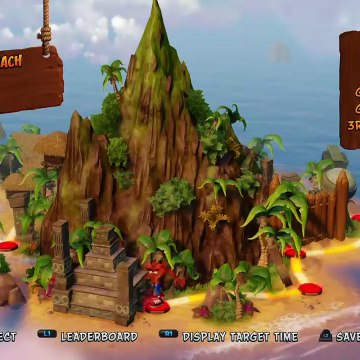 Who can collect the most boxes playing Crash Bandicoot in the desert