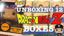 Dragonball z Funko Pop Future Trunks Metallic Chase Capsule  Corps Hot Topic Box 12 Boxes Unboxed