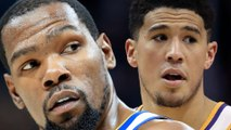 Kevin Durant Gets Into A HEATED Twitter Fight Defending Devin Booker For Being UPSET At Double Team!