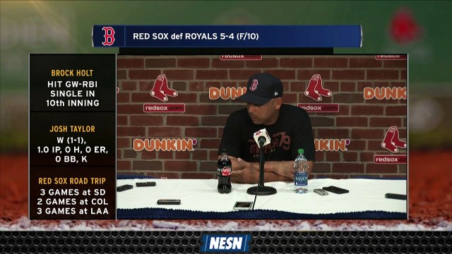 Alex Cora  Discusses How Team Prepared For Unorthodox Finish Vs. Royals