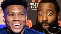 "James Harden SHADES Giannis Antetokounmpo, Claims He Only Won MVP Because Of ""Media Narrative"""