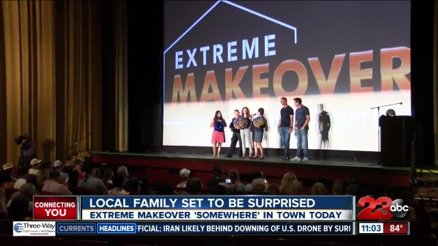Local family to be selected today for an Extreme Makeover: Home Edition
