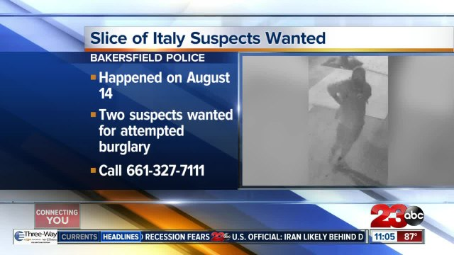 Two suspects wanted for allegedly vandalizing Slice of Italy restaurant