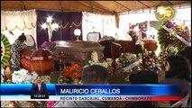 Velorio de los cinco fallecidos en el accidente en la vía Bucay - El Triunfo