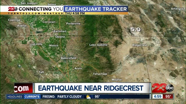 USGS: 5.0 magnitude quake felt 20 miles outside of Ridgecrest