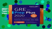 [BEST SELLING]  GRE Prep Plus 2020: Practice Tests + Proven Strategies + Online + Video + Mobile