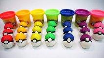 247.How To Make Colors Play Doh Pokemon GO Mini ball Creative For Kids