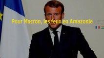 Pour Macron, les feux en Amazonie constituent une « crise internationale »