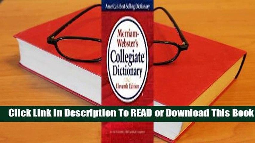 Full E-book Merriam-Webster's Collegiate Dictionary  For Full