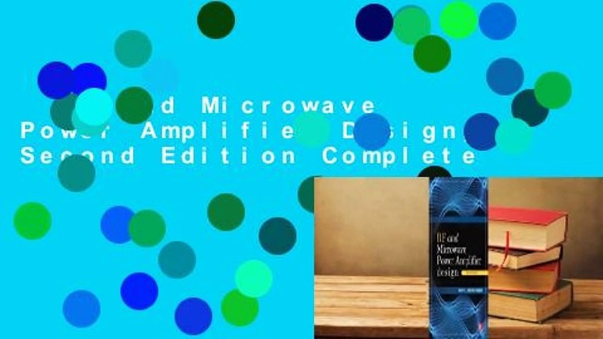 RF and Microwave Power Amplifier Design, Second Edition Complete