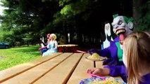 Frozen Elsa, Anna, Joker AND Spiderman Funny Moments