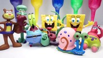 550.Clay Slime Surprise Toys Sponge Bob Family Learn Colors  8Sponge Bob Figure