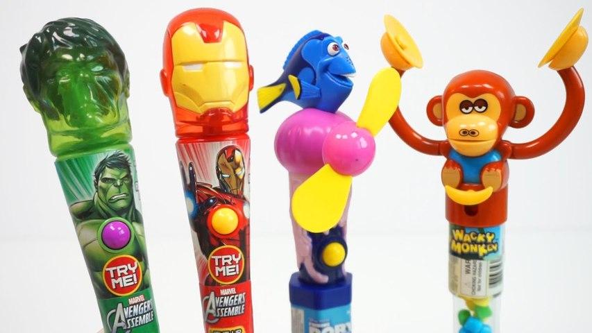 Candy Fan Finding Dory Iron Man Hulk Wacky Monkey Fun and Interesting Toy Candy