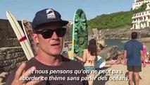 A l'aube du G7, 300 surfers se mobilisent
