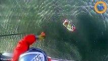 Il se filme dans la mer alors  que son avion s'est crashé...