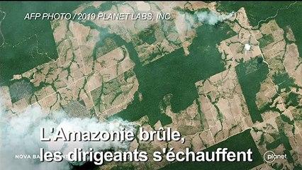 L'Amazonie brûle, les dirigeants s'échauffent