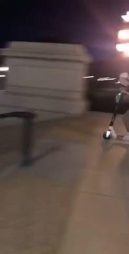 Guy On Scooter Crashes On Stairs