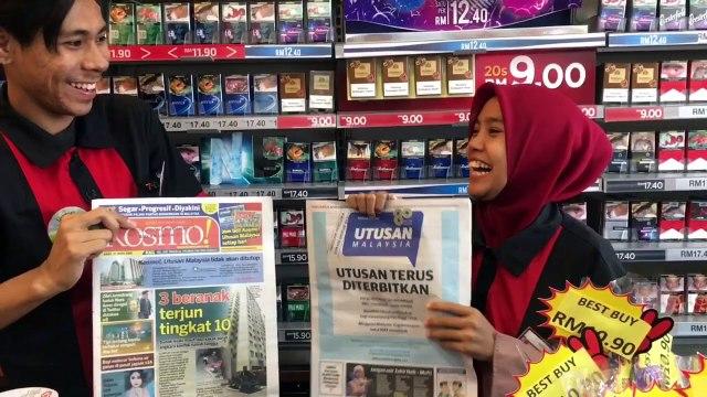 Rakyat Kelantan berkempen untuk Utusan Malaysia, Kosmo!
