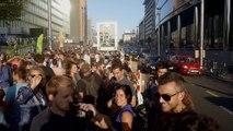 Environ 700 personnes ont pris part à un apéro engagé sur la rue de la Loi à Bruxelles