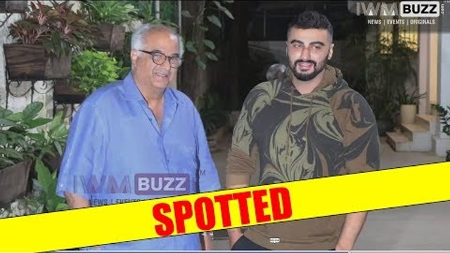 Father-Son duo Boney Kapoor and Arjun Kapoor spotted together