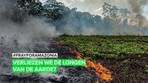De amazone staat in brand #PRAYFORAMAZONIA