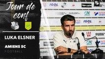 Conférence de presse d'avant Match, Luka Elsner (Amiens SC - FC Nantes)