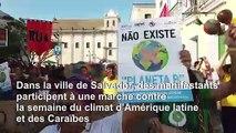 Des manifestants critiquent Bolsonaro sur les feux de forêt en Amazonie
