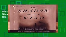 About For Books  The Shadow of the Wind CD  For Online