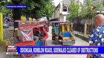 Odiongan, Romblon roads, sidewalks cleared of obstruction