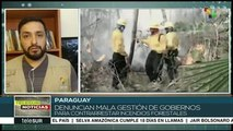 Paraguay: senado aprueba declaración de emergencia por incendios