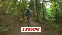 Kilian Bron en action, filmé par un drone - Adrénaline - VTT
