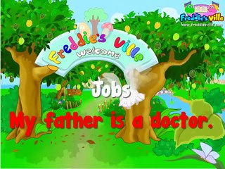 Learning Kids - Children lesson -Jobs Vocabulary, Sentences Lesson, English for Kids -