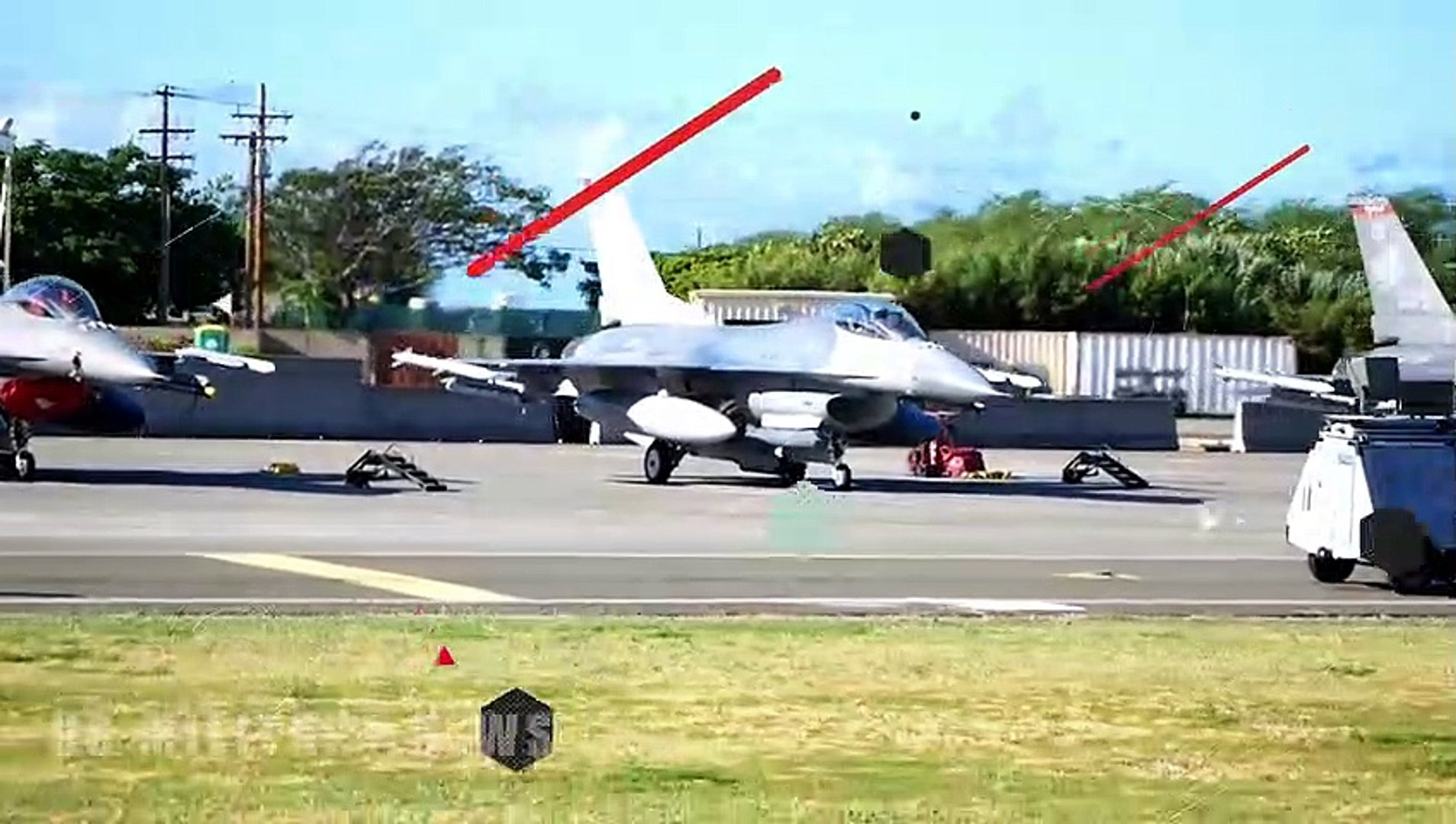 F-16, F-15, F-22, C-17 and KC-135 Aircraft Conduct Take Offs for Combat Exercise Sentry Aloha